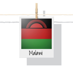 African country flag collection with photo of Malawi flag , vector , illustration