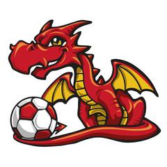 Dragon soccer player