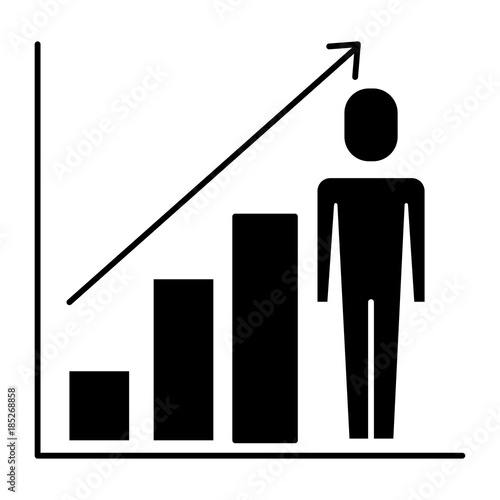 Businessman with diagram arrow growth finance vector illustration businessman with diagram arrow growth finance vector illustration pictogram ccuart Image collections