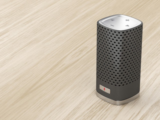 Black smart speaker