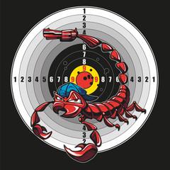 Scorpion with bullseye
