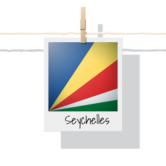 African country flag collection with photo of Seychelles flag , vector , illustration