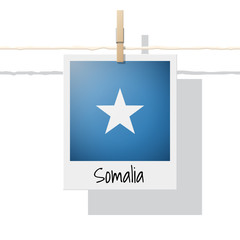 African country flag collection with photo of Somalia flag , vector , illustration