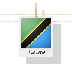 African country flag collection with photo of Tanzania flag , vector , illustration