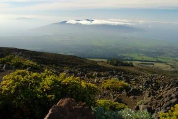 Hawaii, Maui, rocky mountains, elevated view