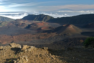 Haleakala crater, Hawaii, Maui, rocky mountains