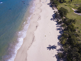 Aerial view of beaches and resort with golf course near Puerto Plata in the Dominican Republic.