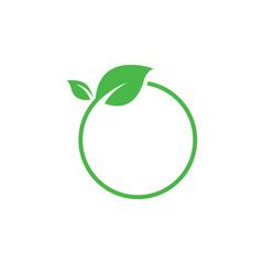 Green and leaf logo design
