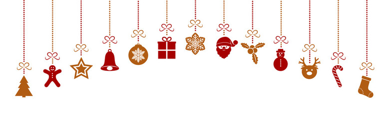 Hanging Christmas decoration. Vector.