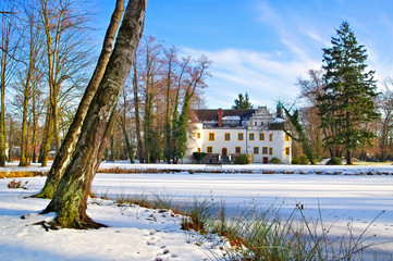 Sallgast Schloss im Winter - Sallgast palace in winter