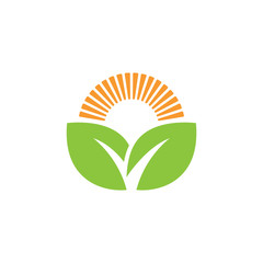 Farm logo or alternative green energy logo