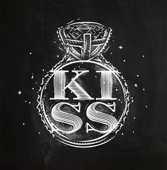 Poster ring kiss chalk