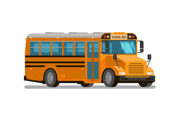 School bus. Flat style, vector illustration