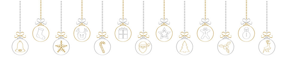 Christmas decoration with hand drawn elements. Vector.