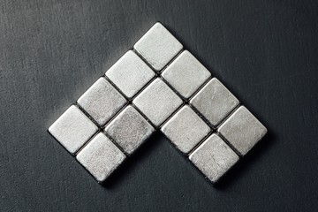 neodymium magnets squares, black background