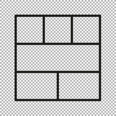 Vector frames photo collage
