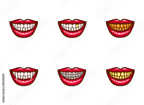 Vampire Teeth Clipart Black And White