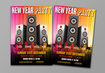 New Year's Eve Party Flyer Layout