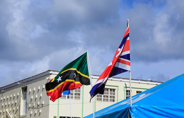 St Kitts and Briitsh Flags