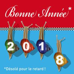 2018 - carte de vœux - humoristique - humour - concept - vœux - fun - conceptuel - originale