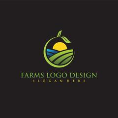 Farms Logo Design. Vector Illustrator Eps. 10