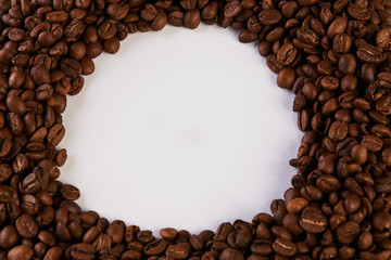 Roasted coffee beans frame
