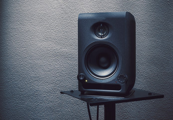 Modern Studio Monitor on Stand