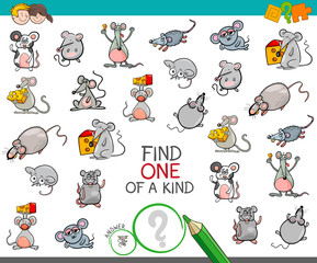 find one of a kind with mouse characters