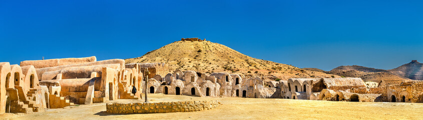 Ksar Hallouf, a fortified village in the Medenine Governorate, Southern Tunisia