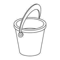 Empty Sand bucket isolated