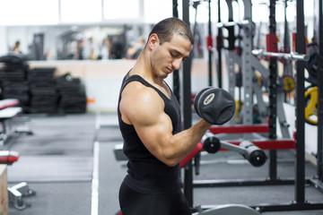 sport man men training in gym
