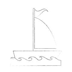 Sailboat ship symbol