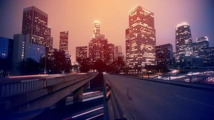 Fotobehang - Night Los Angeles