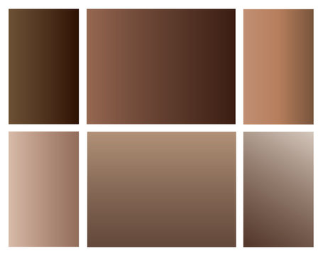 Skin color gradients. Modern screen vector design for mobile app