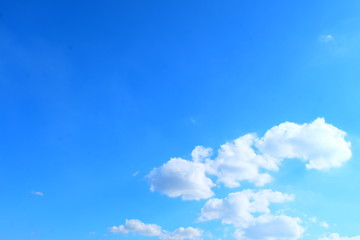 The sun light and blue sky with cloud.