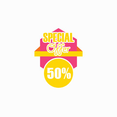 Special Offer 50% Vector Template Design