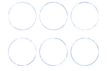 Watercolor Circle design elements isolated on white