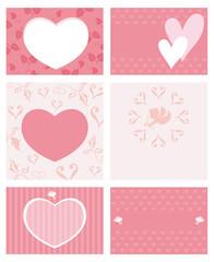 バレンタインデー カードセット(テキスト無し)