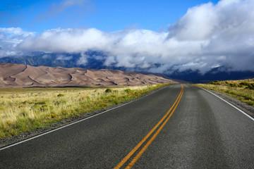 great sand dunes national park highway road