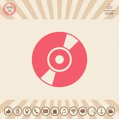 CD, DVD symbol icon