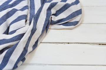 Blue and White Stripped Dish Towel
