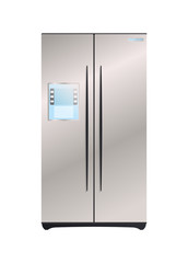 Two compartment refrigerator vector icon