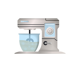 Kitchen mixer isolated vector icon