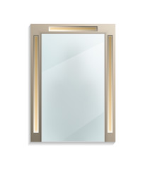 Square decorative wall mirror isolated icon