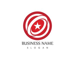Star circle logo design template