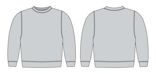 Illustration of sweat shirt ( gray)