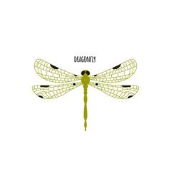 Dragonfly animal logo. Vector illustration