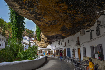 Spain Andalusia Setenil de las bodegas village