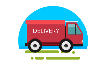 Delivery truck. Fast delivery service