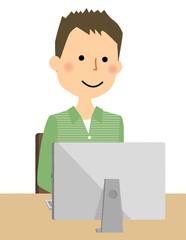 若い男性 パパ PC